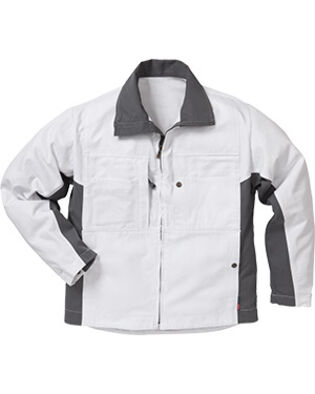 Cotton jacket 458 BM in white for painters and bricklayers