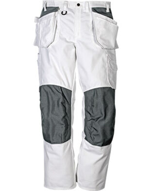 Cotton trousers 258 BM in white for men and women working as painters and bricklayers